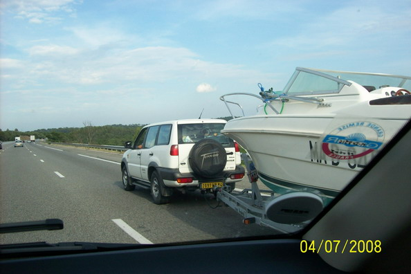 White Terrano towing.JPG